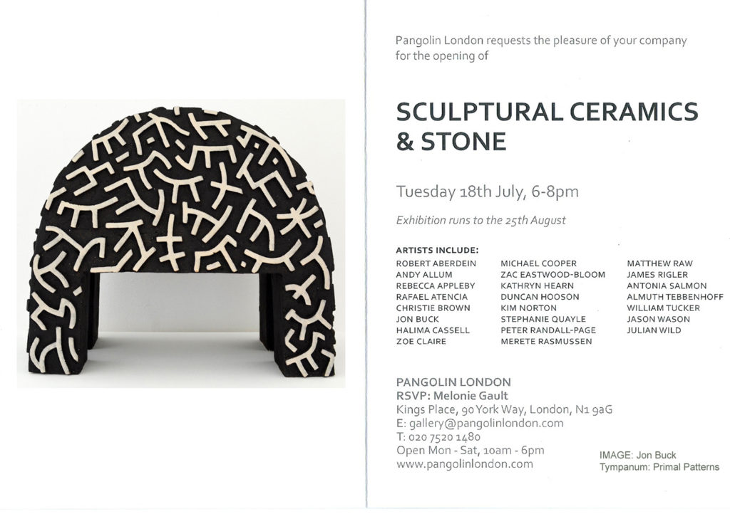 Stone and Ceramics Private View Invite